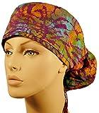 Big Hair Women's Surgical Scrub Cap - Tumbleweed Batik #26