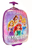 Disney Princess Girls Large Rolling Pilot Case - Wheeled Luggage Travel Backpack  Magnificent Beauty - Hard Shell Trolley