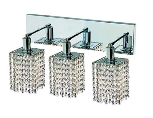 "Wiatt 3-Light 14.5""D Crystal Vanity Fixture 1091W-O-S-Cl-Ss"