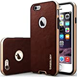 iPhone 6 Case, Caseology [Bumper Frame] Apple iPhone 6 (4.7″ inch) Case [Leather Cherry Oak] Slim Fit Skin Cover [Shock Absorbent] TPU Bumper iPhone 6 Case [Made in Korea] (for Apple iPhone 6 Verizon, AT&T Sprint, T-mobile, Unlocked)