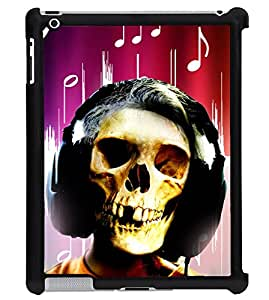 Printvisa 2D Printed Skull Face Designer back case cover for Apple ipad 4 - D4620