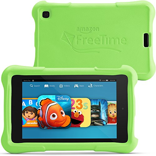 "Fire HD 6 Kids Edition, 6"" HD Display, Wi-Fi, 8 GB, Green Kid-Proof Case"