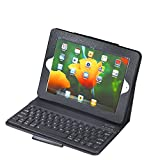 The New Black Leather Case Cover Built-in Bluetooth Keyboard for Apple Ipad 2 and 3