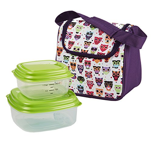 Fit & Fresh Morgan Insulated Kids Lunch Bag Kit with Reusable Containers - 1