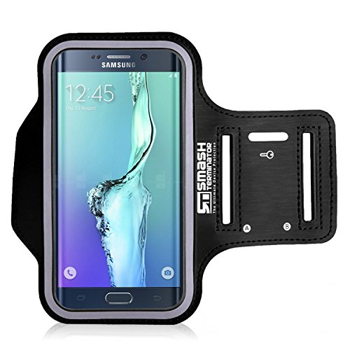 Samsung S7 S6 S6 Edge Running Jogging Armband, Sports Gym Arm Band Case Cover Holder with Key Holder with Key Holder Slot (As Seen in Runners World Magazine - 5 Stars) inc.