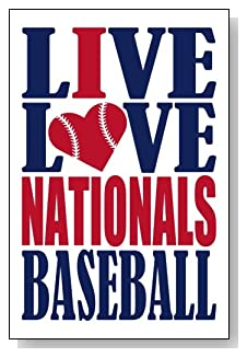 Live Love I Heart Nationals Baseball lined journal - any occasion gift idea for Washington Nationals fans from WriteDrawDesign.com