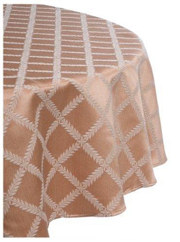 Lenox Laurel Leaf 70-Inch Round Tablecloth, Gold front-668384