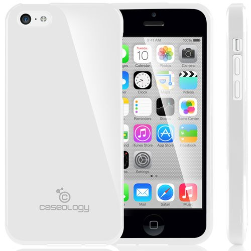 [Drop Protection] Caseology Apple Iphone 5C [White] Slim Fit Skin Cover [Shock Absorbent] Tpu Bumper Case [Made In Korea] (For Verizon, At&T Sprint, T-Mobile, Unlocked) front-733158