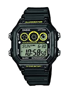 Casio - AE-1300WH-1AVEF - Collection - Montre Homme - Quartz Digital - Cadran Noir - Bracelet Résine Noir
