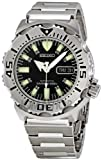 Seiko Mens SKX779 &quot;Black Monster&quot; Automatic Dive Stainless steel Watch