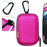 BDC0104eva New first2savvv semi-hard pink camera case for Samsung L301 + Key Chain