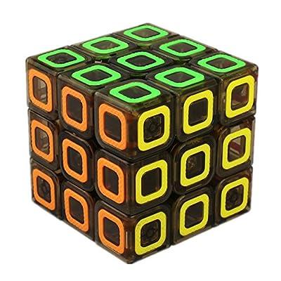 D-FantiX Qiyi Mofangge Dimension Speed Cube 3x3 Stickerless Smooth Magic Cube Puzzles Transparent Black 57mm from Qiyi