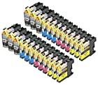 24 Pack Compatible Brother LC101 , LC103 6 Black, 6 Cyan, 6 Magenta, 6 Yellow for use with Brother DCP-J152W, MFC-J245, MFC-J285DW, MFC-J4310DW, MFC-J4410DW, MFC-J450DW, MFC-J4510DW, MFC-J4610DW, MFC-J470DW, MFC-J4710DW, MFC-J475DW, MFC-J650DW, MFC-J6520DW, MFC-J6720DW, MFC-J6920DW, MFC-J870DW, MFC-J875DW. Ink Cartridges for inkjet printers. LC101BK , LC101C , LC101M , LC101Y , LC103BK , LC103C , LC103M , LC103Y © Blake Printing Supply