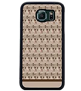 PrintDhaba Pattern D-1537 Back Case Cover for SAMSUNG GALAXY S6 EDGE (Multi-Coloured)