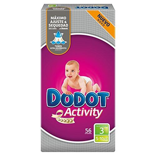 Dodot Activity - Pannolini, taglia 3, per bambini da 5-10 kg, 56 pannolini