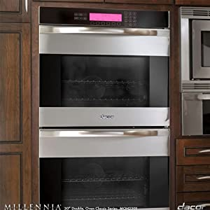 Dacor Moh230s Stainless Steel W Horizontal Black Glass 30 Millenia Discovery Double Wall Oven