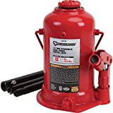 Strongway Hydraulic High Lift Double Ram Bottle Jack - 12-Ton Capacity, 8 15/16in.-23 5/8in. Lift Range