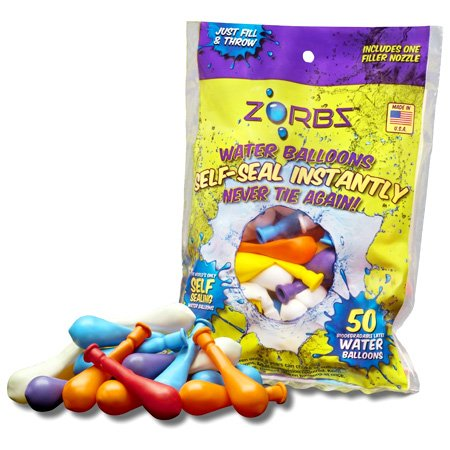 ZORBZ Self-Sealing Water Balloons 50 Count