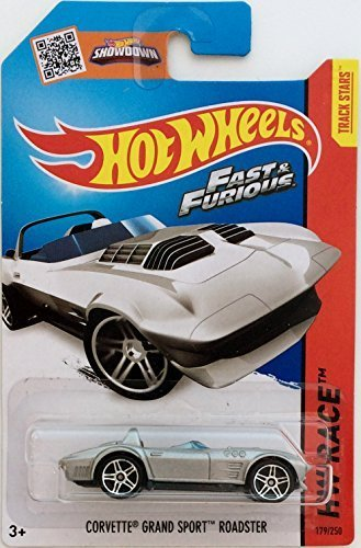 Hot Wheels, 2015 HW Race, Fast & Furious Corvette Grand Sport Roadster [Silver] Die-Cast Vehicle #179/250