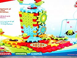 Spinning Puzzle, 81 Pecies Battery Operated Gears, Blocks And Multiple Shapes