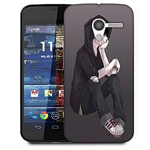 Snoogg Lonely Guy In Rain Designer Protective Back Case Cover For Motorola Moto X