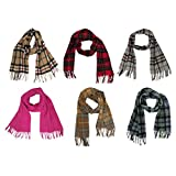 Tartanista 100% Lambswool Scottish Tartan/Plaid Scarves 14 Colours - 60 x 12