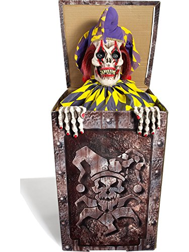 Forum Novelties Animatronic Prop Animated Jack in The Box for Party Decoration, Multicolor (Scary Clown Jack In The Box compare prices)