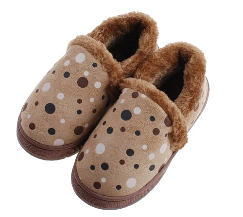 Colorfulworldstore Unisex Side seam dot Children's cotton slippers-Autumn and winter warm Plush boots shoes