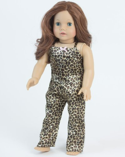 2 Pc. Doll Pajamas Set, 18 Inch Doll Clothing of Leopard Print Doll Pj's, Fits 18 Inch American Girl Dolls