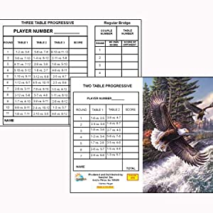 White Water Eagle Bridge Tallies (12 Pack) 2 & 3 Table Progessive