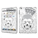 Apple iPad Mini Decal Vinyl Skin White Skull Crown By SkinGuardz Save off