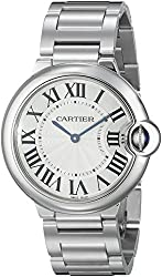 Cartier Unisex W69011Z4 Ballon Bleu Stainless Steel Midsize Watch
