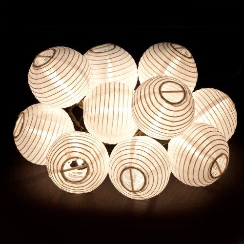 Gemmy Hanging Light String - White Chinese Lanterns