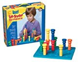 Lauri Toys Tall-Stacker Pegs and Pegboard Set