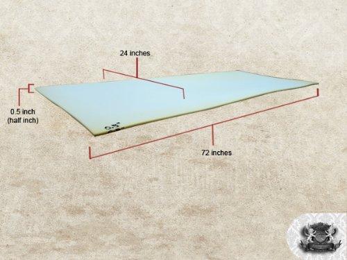 "New Foam Padding 0.5"" (half inch) x 24"" x 72"""