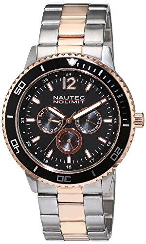 No limit Nautec hombre-reloj analógico de cuarzo transparente chapado en acero inoxidable GLAC-QZ-STRGSTRG-BK