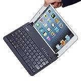 BATTOP Ultra-thin Bluetooth Keyboard Case Cover With Stand For IPad Mini 3 / IPad Mini 2 / IPad Mini - Auto Wake...