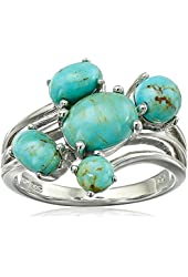 Sterling Silver Bohemian Multi-Bypass Turquoise Ring