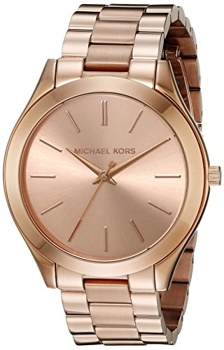 d4c9f5e04115 Michael Kors Slim Runway M.KORS-MK3197 42mm Stainless Steel Case Rose Gold  Gold Plated Stainless Steel Mineral Women s Watch