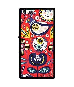 Chnno 2d Printed Back Cover For Sony Xperia Z2 -Multicolor No.1100