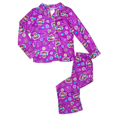 East Coast Children'S Big Girls Monkey Pant Pajama Set (M 7/8) front-108506