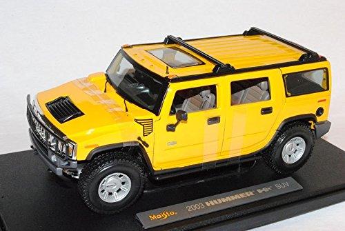 hummer-h2-suv-gelb-2003-2010-1-18-maisto-modell-auto