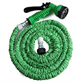 125ft Garden Hose Expandable Magic Flexible Water Hose Eu Hose Plastic Hoses Pipe With Spray Gun - Green