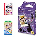 10 Sheets Disney MICKEY & Friends + 10 Sheets Alice in Wonderland + 10 Sheets Rabbit Set Fujifilm Instax Photographic Instant Photo Mini Films For Fuji Instant Camera