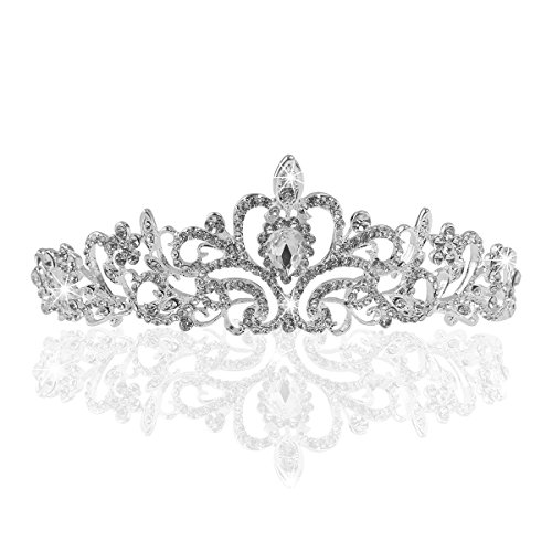 TinkSky® Wedding Tiara, nuziale diadema con cristalli Strass per la cerimonia nuziale, Proms, spettacoli, principessa Feste, Compleanno