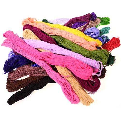 Lot de 50 200 echevettes fil broder moulin couture en for Fil de couture