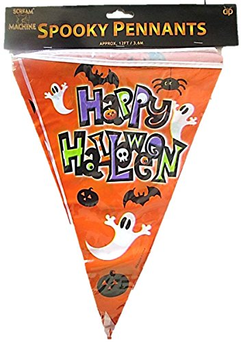 value-twin-pack-spooky-pennants-happy-halloween-bunting-indoor-outdoor-party-decoration-banner-total