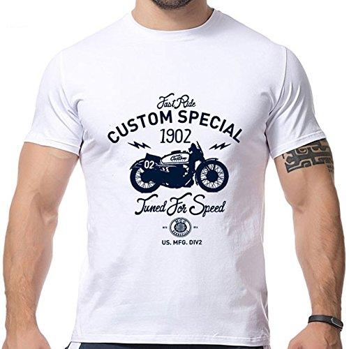 2016 New Design Motorcycle Printing T Shirts Short Sleeve O Neck Strong Men Shirts Size XXL