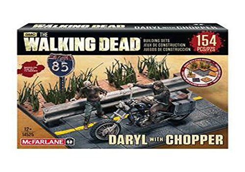 Walking Dead TV Daryl Dixon with Chopper Building Set by McFarlane by McFarlane Toys