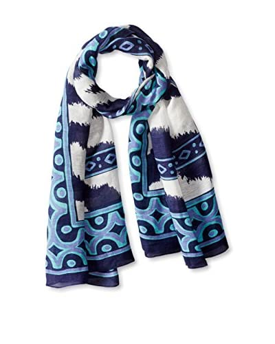 Theodora & Callum Women's Lake Mburo Tie All Scarf, Blue/Multi